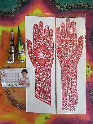 Henna DIY Kit With Stencils & Bindi Temporary Tattoo Body Art