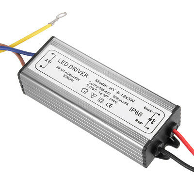 AC 85-265V to DC 25-40V 600mA IP66 8-12x3W LED Light Strip Power Supply Driver