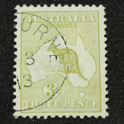 1913 3 Pence 3d Olive Kangaroo (12(U)d) + Cancelled To Order - Hinged