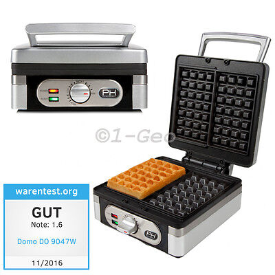 WAFFLE MAKER for 2 THICKNESS belgian brussels Design Waffelmaker Stainless steel