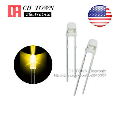 500pcs 5mm Water Clear Green Light Single Self Flash 1.5Hz Blink LED Diodes