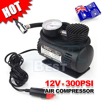 12V Air Compressor Pump Car 4x4 Bike Tyre Inflator Electric Portable Pressure AU