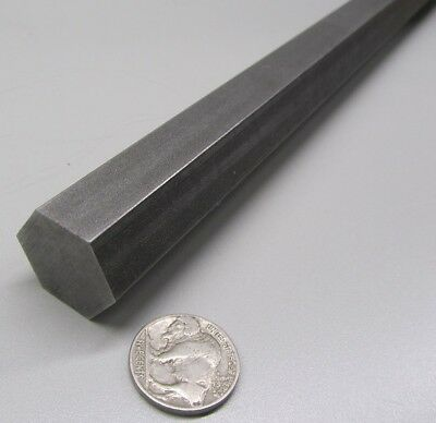 "1215 Carbon Steel Hex Rod 7/8"" Hex x 3 Foot Length"