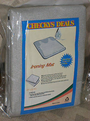 Checkys Deals Travel Triple Layer Silver Silicone Ironing Mat Blanket Fireproof