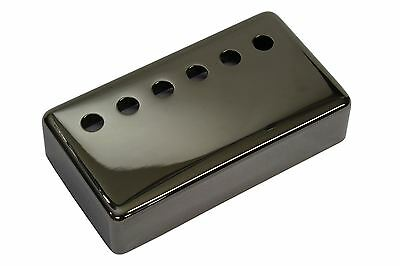"Humbucker Pickup cover ""Smoked Black Nickel"" plated nickel silver 53mm spacing"