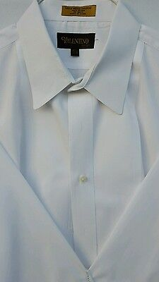 Valentino Authentic Men's Tuxedo White Dress Shirt Classic Fit French Cuff