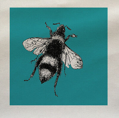 Bee Blue Printed Fabric Panel Make A Cushion Upholstery Craft