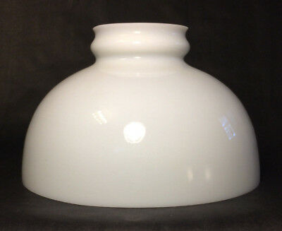 """Early Style 10"""" Opal White Glass Low Top Oil Kerosene Lamp Shade - AMERICAN Made"""