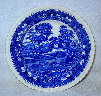 "Vintage Copeland Spode's Tower England Blue Fruit Bowl 5.5"" Old Mark"