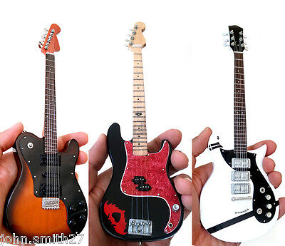 Miniature Guitar Fall Out Boy Set of 3 Joe Trohman, Patrick Stump, Pete Wentz