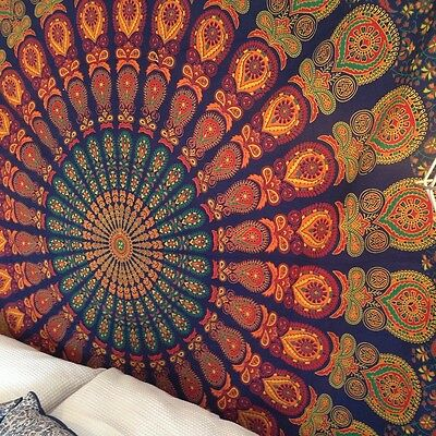 Hippie Twin Mandala Tapestry Indian Wall Hanging Beach Bedspread Dorm Boho Throw