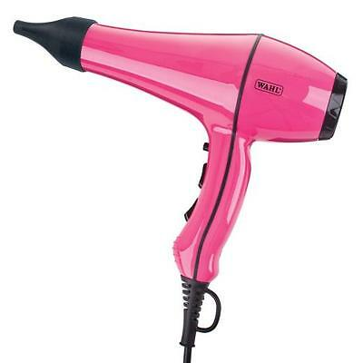 Wahl Professional Power Dry Hair Dryer 2000w Pink