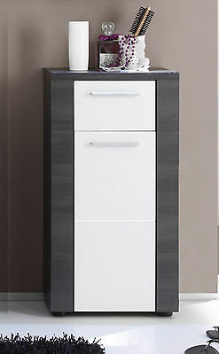 badezimmer highboard esche grau badm bel schrank badschrank bedzimmerschrank bad eur 125 10. Black Bedroom Furniture Sets. Home Design Ideas