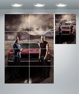 A0 A1 A2 A3 A4 Sizes Fast /& Furious 7 Paul Walker Giant Poster