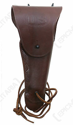 US Army Dark Brown Leather M1916 COLT 1911 PISTOL HOLSTER - WW2 .45 Gun Repro
