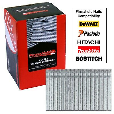 Firmahold 18G Finishing Galvanised Brads Nails Fit Paslode - 5000pcs
