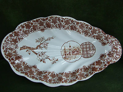 """COPELAND Spode AESTHETIC Cairo Pattern 8.75"""" RELISH TRAY Ladle Rest"""