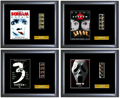 Scream movies 1,2,3,4 - 4 x Film Cell - Numbered Limited Editions