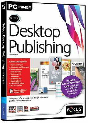 Select Desktop Publishing 3rd Edition ( PC ) NEW SEALED (THIRD)