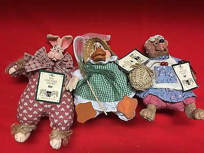 The Country Folks Collection Dolls Lot Of 3