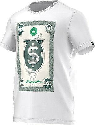 New Men's Adidas Wall Street Tee Tennis T-Shirt White AA4220 Limited Edition