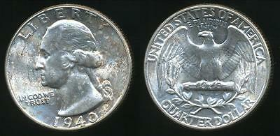 United States, 1940 Quarter Dollar, Washington (Silver) - Uncirculated