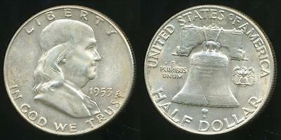 United States, 1953-D Half Dollar, Franklin (Silver) - Uncirculated