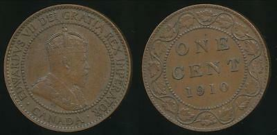 Canada, Confederation, 1910 One Cent, 1c, Edward VII - Very Fine
