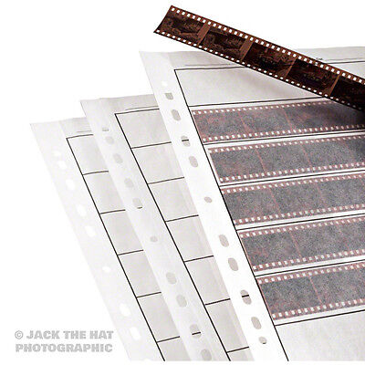 25 x Negative Filing Sheets for 35mm Film. To Fit Ring Binder Archive Folders