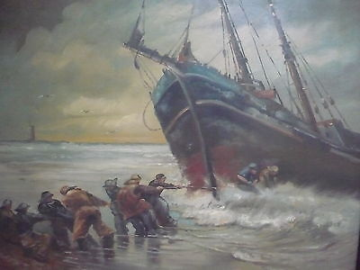 Painting Signed Collection Of Sailing Ships