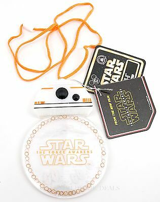 NEW Disney Parks Star Wars BB-8 DROID Light Up Glow Badge and Lanyard X-Wing