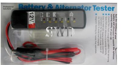 12v Battery & Alternator LED condition tester car van boat or caravan magnetic