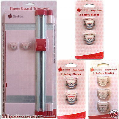 Woodware FingerGuard Trimmer and Blades A4 30cm 12inch Cut with Pull Out Arm