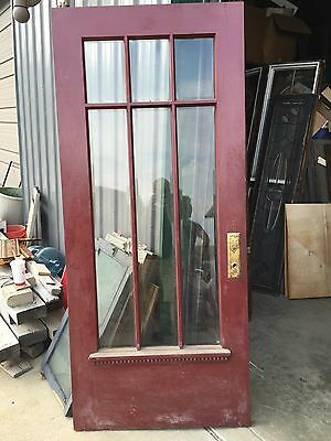 D 26 Antique Oak Beveled Glass Arts And Crafts Entrance Door