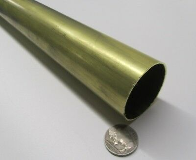 "260 Brass Tube 1 5/8"" OD x .032"" Wall x 1.561"" ID x 3 Ft Length"