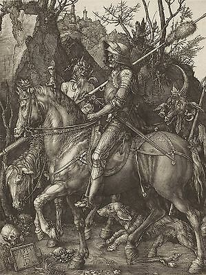 Albrecht Durer Knight Death Devil Old Master Art Painting Print Poster 078Oma