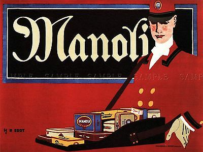 Commercial Advert Cigarettes Manoli Germany Poster Art Print Picture Bb1744A