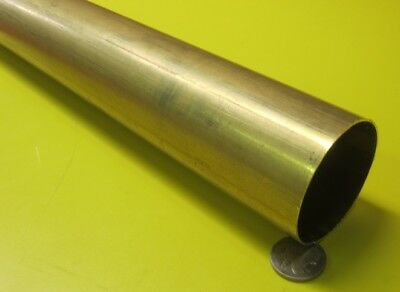 "260 Brass Tube 2.0"" OD x .032"" Wall x 1.936"" ID x 3 Ft Length"