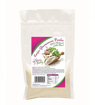 Konjac Glucomannan Powder (Flour) 100g, Dukan Diet, 100% Pure Weight Loss Fibre