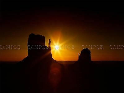 Photo Landscape Monument Valley Utah Usa Sunset Silhouette Stack Poster Bmp10150