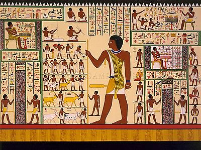 PAINTINGS DRAWING MURAL GIZA TOMB ANCIENT EGYPT HEIROGLYPHIC LV3059