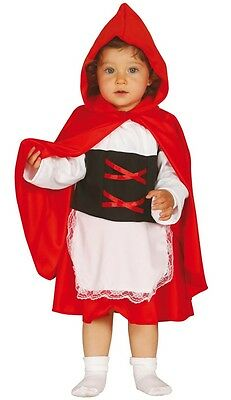 Baby Girls Little Red Riding Hood FairyTale Halloween Fancy Dress Costume Outfit
