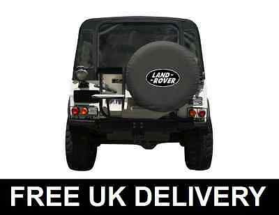 Land Rover Black Spare Wheel Cover Soft Defender Discovery Freelander Medium 30""