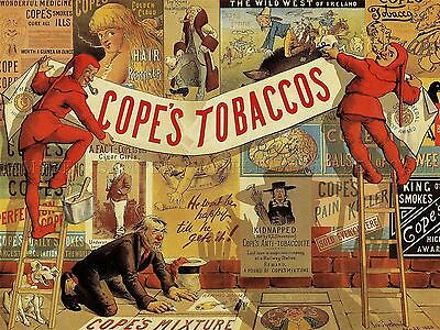 Advertising Copes Tobacco Smoking Pipe Retro Jester Art Poster Print Lv634