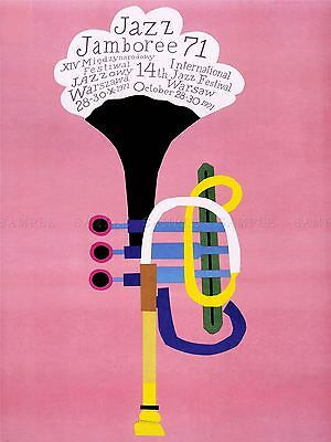 Advertising Exhibition Jazz Poland Trumpet Abstract Art Poster Print Lv818