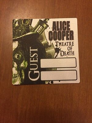 ALICE COOPER backstage pass 2009 Theatre Of Death Tour Guest