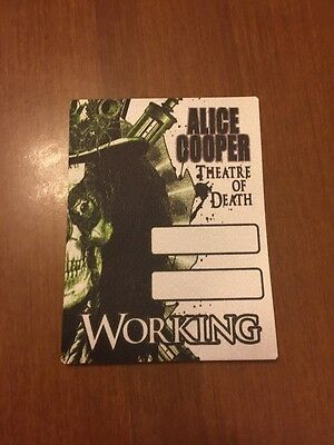 ALICE COOPER backstage pass Theatre Of Death Tour 2009 WORKING