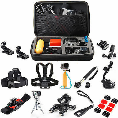 Accessories Kit EVA Case Head Chest Monopod Bike Mount for GoPro 1 2 3 4 Session