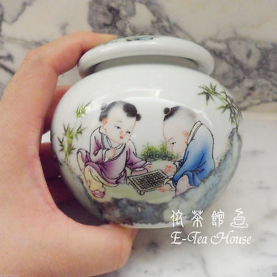 Asian Chinese Porcelain Children Tea Leaf Container / Jar / Canisters / Caddy
