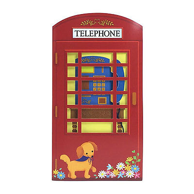Vintage Red Telephone Booth Happy Birthday Melody Greeting Card